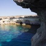 Sea caves near Cape Greko. Cyprus — Stock Photo #16917875
