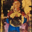 Picture of the Byzantine Holy Icon of Virgin Mary 18th century - Stock Photo