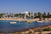 Panoramatický pohled na pláži makronissos, agia napa — Stock fotografie