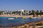 Panoramisch uitzicht over strand makronissos, agia napa — Stockfoto