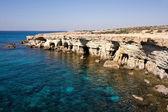 Sea caves near Cape Greko. Cyprus — Stock Photo
