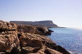 Sea landscape with rock. Capo Greco, Cyprus — Stock Photo