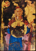 Picture of the Byzantine Holy Icon of Virgin Mary 18th century — Stock Photo