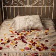 Stock Photo: Bed in elegant bedroom
