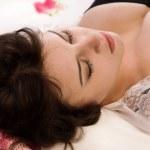 Sexual brunette sleeping — Stock Photo #17369753