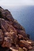 Paisaje del mar con la roca. capo greco, chipre — Foto de Stock