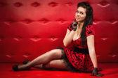 Atraente garota pin-up — Foto Stock