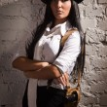 Retro detective girl — Stock Photo #19212495