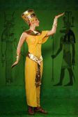 Egyptian woman in costume of the Pharaoh — Stock Photo