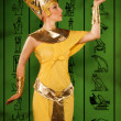 Egyptian woman in costume of the Pharaoh — Stock Photo #22141333