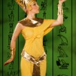 Egyptiwomin costume of Pharaoh — Stock Photo #22141333