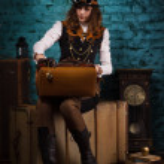 Steam punk girl — Stock Photo