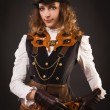 Stock Photo: Steam punk girl