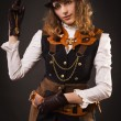 Steam punk girl — Stock fotografie