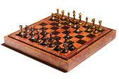 Chessmen on a chessboard — Stock Photo