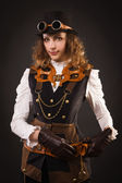 Steam punk girl — Stock Photo
