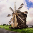 Wooden Windmill. Kizhi Island, Russia — Stock Photo