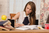 Student preparing for an exam — Stock Photo