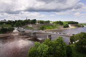 Bridge over the Estonian-Russian border in Narva — Stock Photo