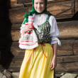 Young girl in Russian national costume  — Stock Photo