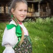 Young girl in Russian national dress — Stock Photo