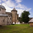 Ivangorod fortress at the border of Russia and Estonia — Stock Photo