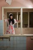 Horror movie. Crazy dead nurse — Stock Photo