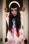 Película de terror. enfermera muerta loco — Foto de Stock