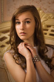 Elegant girl in evening dress — Stock Photo
