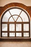 Vintage window and brick wall — Foto de Stock