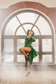 Posing Dancing Woman — ストック写真