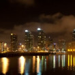 Night San Diego city time lapse with buildings and traffic - Stock Photo