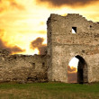 Ruined gates of cossack castle - Stock Photo