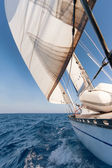 Sailing yacht on the race — Stock Photo
