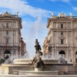 Stock Photo: City square with fountain in Rome