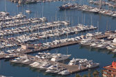 Yachts and sailboats in the harbour — Stock Photo