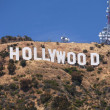 Hollywood sign on the hill — Stock Photo
