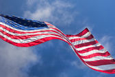 USA flag waving on the wind — Stock Photo