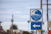 Tsunami evacuation sign — Stock Photo