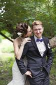 Casal recém casado — Fotografia Stock