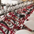 Row of bicycles for rent — Stock Photo