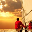 People on sailing boat in the sea — Stock Photo #30061101