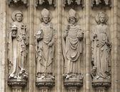 Čtyři křesťanské sochy v Antverpách, Belgie — Stock fotografie