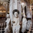Ancient statues inside the roman catholic cathedral — Stock Photo