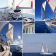 Collage of sailing boat staff — Stock Photo