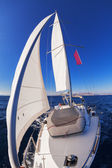 Sailing boat front view — Stock Photo
