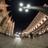 Milano cathedral wide angle view — Stock Photo