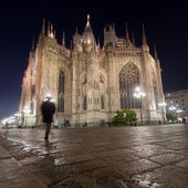 Milano cathedral at night — Foto Stock