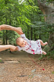 Baby in ukrainian folk dress vyshyvanka  — Stock Photo