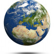 Planet Earth 3d render - Stock Photo